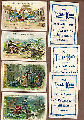 TYPE CARDS: Collection of RARE Victorian TRAMPLER COFFEE Cards (1900)M