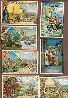 TYPE CARDS: Collection of RARE Victorian TRAMPLER COFFEE Cards (1900)N