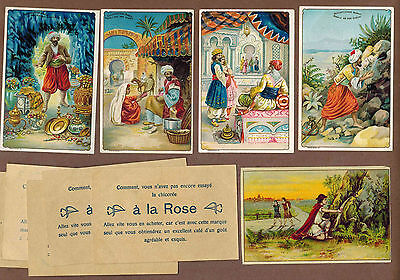 TYPE CARDS: Collection of RARE Victorian TRAMPLER COFFEE Cards (1900)V