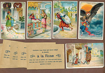 TYPE CARDS: Collection of RARE Victorian TRAMPLER COFFEE Cards (1900)W