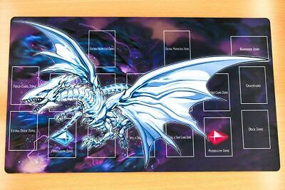 F1312 Free Mat Bag Blue-Eyes Alternative White Dragon Playmat Yugioh TCG Playmat