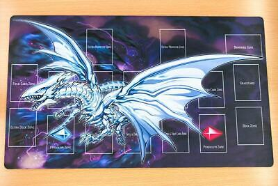 F1312 Free Mat Bag Blue-Eyes Alternative White Dragon Yugioh TCG Playmat CCG Mat
