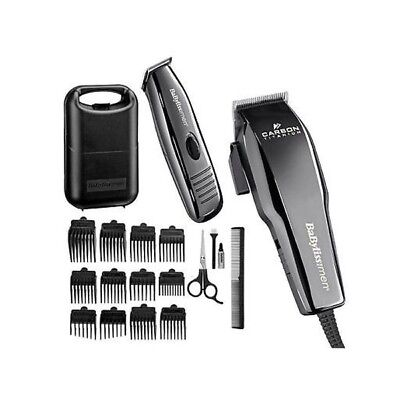 Babyliss For Men Carbon Titanium Hair Clipper And Trimmer With Accessories Black