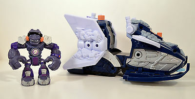 """RARE 3.5"""" Shiver Pluto Action Figure & 9"""" Moon Rover Vehicle 2006 Planet Heroes"""