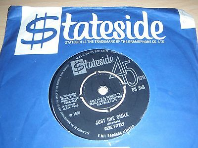 """Gene Pitney Just One Smile b/w The Boss's Daughter 7"""" 1966 Stateside SS 558"""