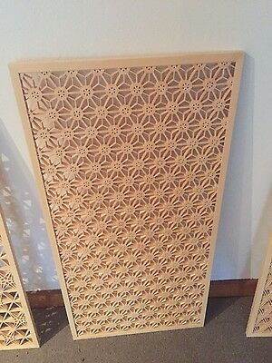 Japanese traditional hand craften wooden screen.
