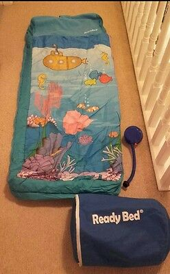 Boys Inflatable Ready Bed with case and pump. Excellent condition