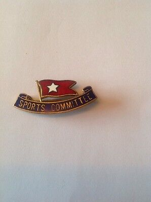 Vintage WHITE STAR LINE SPORTS COMMITTEE BADGE. Rare.