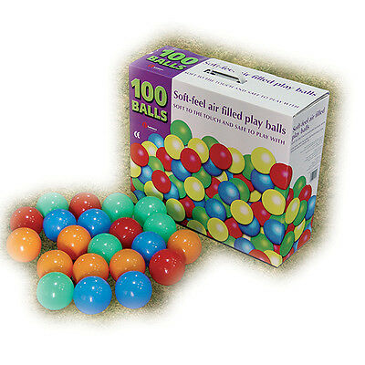 Plastic Balls 100 pc Toy Pit Ball Soft Feel Air Filled Play Balls for Baby Kids