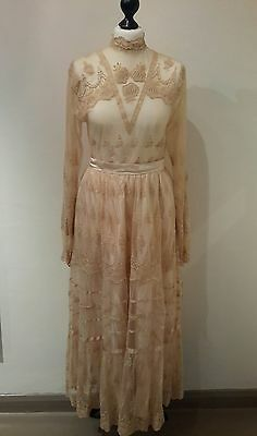1970s vintage Marisa Martin victorian style blouse and skirt set size 8