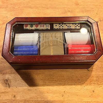 Bicycle Poker Set With Red Oak Wood Case