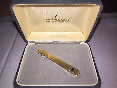 Vintage Masonic Gold Tie Clip With Box Never Worn