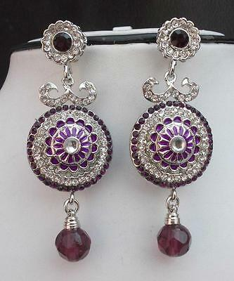 LOT! Indian Bollywood Designer American Global Style Silver Plated Earrings Set