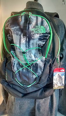 North Face Backpack Jester Flexvent Laptop Bookbag Outdoors Trees Print New