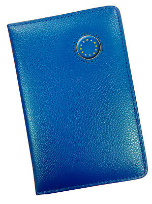 Europe Crested Blue Leather Scoremaster Golf Scorecard Holder