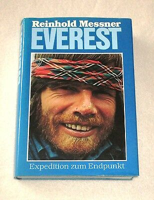 REINHOLD MESSNER EVEREST Expedition Endpunkt signiert Buch Autogramm Himalaja