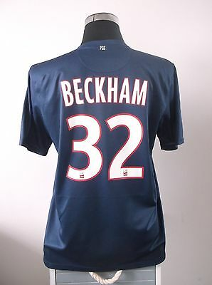 David BECKHAM #32 Paris Saint Germain PSG Home Football Shirt 2012/13 (L)
