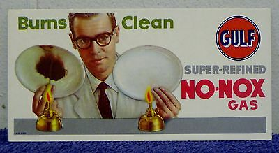 Vintage Gulf Super Refined No-Nox Gas Advertising Blotter