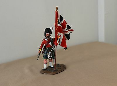 King and Country CRW33 93rd Highlanders Officer Flag Bearer