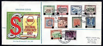 Niue 1967 Decimal Currency illustrated FDC WS3468