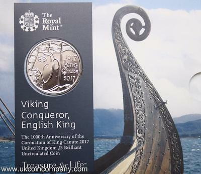 2017 King Canute £5 Coin Brilliant Uncirculated Coin Pack By The Royal Mint