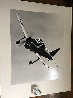 Military Fighter Plane Original 1950s Aerial Photograph Of RAF In Flight