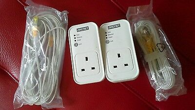 New Bt Arcnet Powerline Adapter Twin Pack with Passthrough HOme Plug 200Mbps KIt