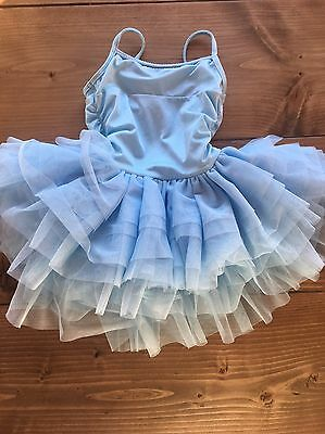 Bloch Girls Dance Leotard - Blue With  Tulle Skirt - Child Size 6/7