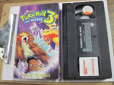 Pokemon The Movie 3 VHS rare tested a+