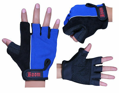 BOOM Prime Leather Wheelchair Gloves Fingerless Driving Cycling Gym Training Bus