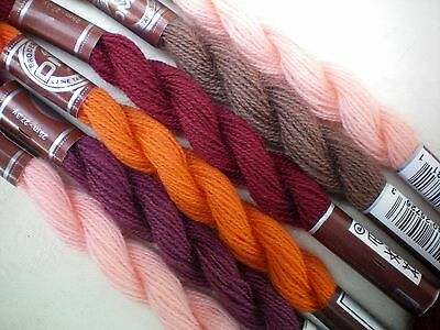 DMC Broder Medicis Tapestry Tapisserie Wool 6 x Skeins 150M Mixed Fine Wool (S)