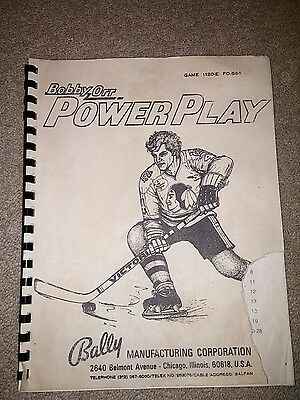 Bally Bobby Orr Power Play pinball manual