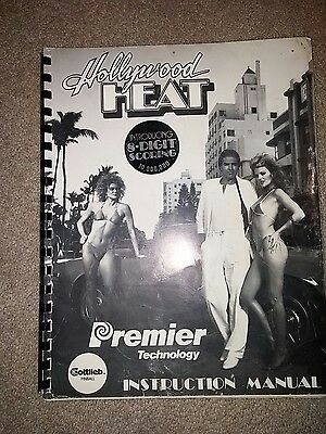 Gottlieb Premier Hollywood Heat pinball manual