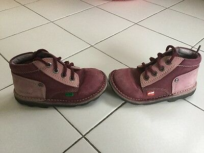 Kickers 25, violet, (t)be, fille