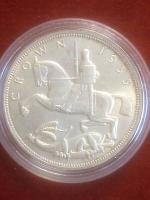 George V 1935 Crown A/unc Very Nice Rare Coin