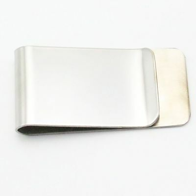 Purse Credit Wallet Card Mini Glossy Money Clip Stainless Steel