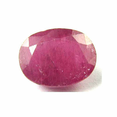 Large 13.4Ct Natural Ruby Oval Faceted Gemstone