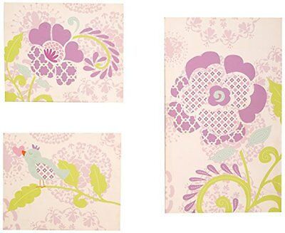 3 PC Set Dena Bloom Canvas Wall Art Infant Baby Nursery Decor Playroom Kids NEW
