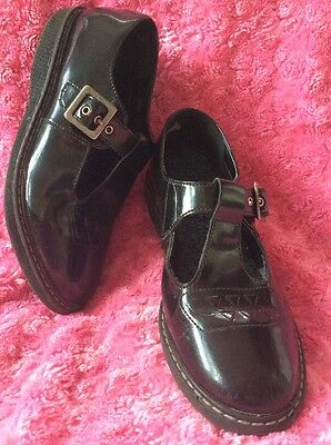 Girls Start-Rite Angry Angels Black Patent Attitude T Bar Shoes Size Uk 3