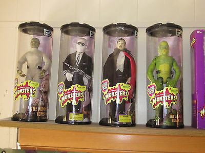 Universal Monsters Hasbro Mummy, Invisible Man, Son of Dracula & Creature Dolls