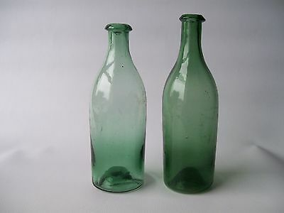 Super Pair Of Early Salad Oil / Wine Bottles