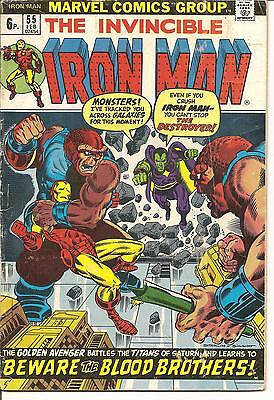 Iron Man No 55. First Thanos. Drax of Guardians of Galaxy. Pence Variant. VG+