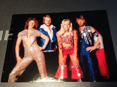 Abba Official Postcard 74 Photo Session