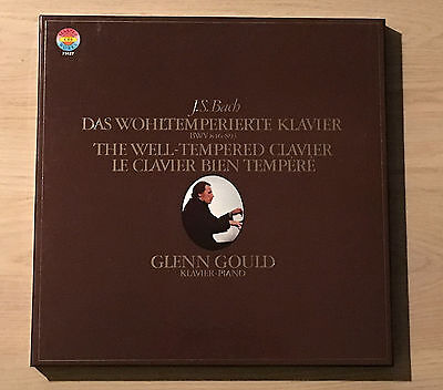 GLENN GOULD Welltempered Clavier BACH  - 1stPress COLUMBIA 4LP Box MINT