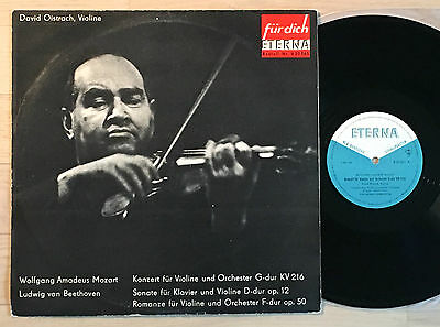 DAVID OISTRAKH violin MOZART BEETHOVEN YAMPOLSKI 1966 blue/white ETERNA MINT