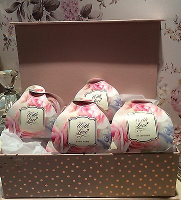 Bath Bomb gift Set Mothers Day /6 bath bombs boxed