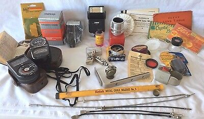 VTG LOT of 29 Mixed Items ~ Camera & Photo Equipment ~ Accessories - Advertising