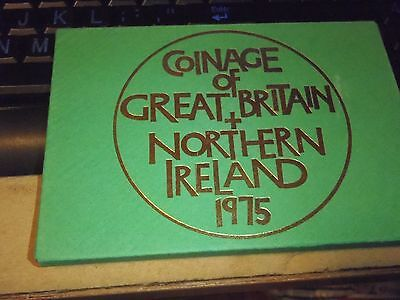 1975 Royal Mint Coinage Of Great Britain & Northern Ireland Proof Set.
