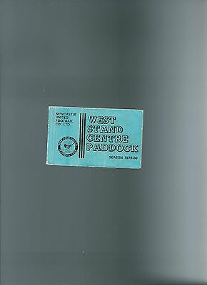 season ticket newcastle united west stand centre paddock 79/80