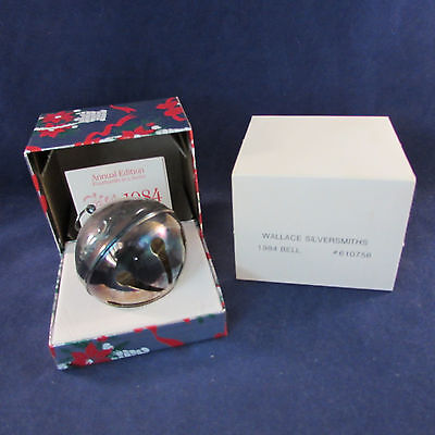 1984 Annual Wallace Silverplate Sleigh Bell Ornament 14th